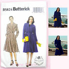 Butterick 5824 Sewing Pattern Misses' Vintage Retro Semi-Fitted Long Coat - Easy