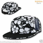 Kyпить DECKY Black & White Floral Hawaiian 5 Panel Racer Jockey Flat Bill Cap Hat на еВаy.соm