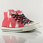 Converse All Star Hi Chuck Taylor Tie Dye Red/White Stripe Trainers