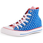 Converse Chuck Taylor Stars and Bars Womens Blue White Trainers New Shoes Sizes