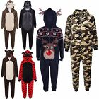 KIDS GIRLS BOYS SOFT & FLUFFY ANIMAL HALLOWEEN Onesie COSTUME FANCY DRESS PJ'S