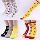 Fruit Rubber Duck Fast Food Pattern Ankle Crew Knee Socks Banana Pineapple