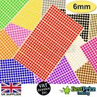 952 x 6mm Coloured DOT STICKERS Round Sticky Adhesive Spot Circles Paper Labels