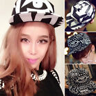 Crazy Sale Popular KPOP One Eye Scrawl Style Cap Trendy Hat Black White