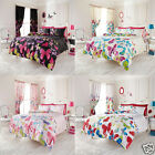Butterfly Reversible Duvet Quilt Cover Set With Pillow Cases Bedding Set