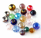 sale Champin 100-500pcs 4,6,8mm Mixed Color Crystal  Rondell Beads DIY Mix-Color