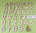 Wood Craft Letter Shapes - 40mm MDF Craft Letters Wooden Alphabet Letters