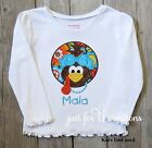 Infant Toddler Thanksgiving Girl Turkey Bow Personalized Long Sleeve Shirt