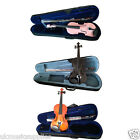 BACK TO SCHOOL VIOLIN - 4/4, 3/4 & 1/2 Plus Choice of Colours + free strings set