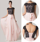 NEW Long Formal Wedding Gown Bridesmaid Evening Prom Dress 6 8 10 12 14 16 18 20