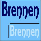Brennen Boys Name Wall Sticker -18x40cm Interior Home Vinyl Decal Decor Sign