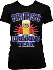 British Drinking Team Cheers Beer Glass Pint Union Jack Pride Juniors T-shirt
