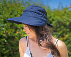 Kyпить Womens Wide Large Brim Summer Beach Sun Straw Canvas Hat Visor Removable Cap на еВаy.соm