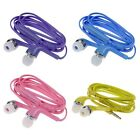 3.5mm Stereo In-ear Headphone Earphone Headset w/ Volume Control Mic for Samsung