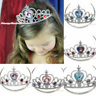 Cartoon Princess Rapunzel Snow White Elsa Anna Olaf Sofia Tiara Crown Costume