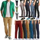 MENS CHINO JEANS REGULAR FIT CASUAL PANTS SKINNY TROUSERS STRAIGHT LEG BOTTOMS