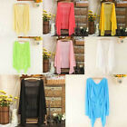 Hot Women Summer Shawl Sun Protection Shirt Air Condition Sweater Thin Cardigan