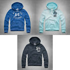 NWT Abercrombie and Fitch  Men's Beaver Point Hoodie, Turquoise, Navy,Blue, M, L