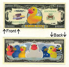 Ducks Rubber Ducky 1,000,000 Dollars Bill Novelty Notes 1 5 25 50 100 500 1000