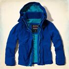 NWT! HOLLISTER by Abercrombie Mens All Weather Jacket Rain Hoodie Coat S,M,L,XL