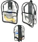 Clear Transparent Backpack Book Bag School Sports Stadium TSA Security 2 Pocket