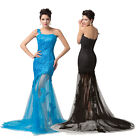 Newly Lace Masquerade Long Formal Banquet Evening Prom Party Dress Cocktail 2-16