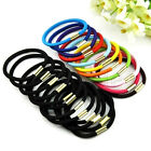 Colorful Rubber Elastic Hair Rope Band Scrunchie Ponytail Holder 10pcs WT