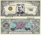 1907 U.S.A. State of Oklahoma OK Novelty Notes Bills 1 5 25 50 100 500 or 1000