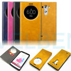 Pu-Leather Shockproof wallet quick circle case cover 1-card pocket for LG G3 lot