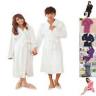 Unisex Couples Women Men Coral Fleece Long Sleepwear Robes Spa Bathrobe #8 Color