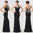2014 NEW Sexy Women Formal Cocktail Evening Prom Party Wrap Maxi Dress 6 8 10+