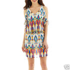 Bisou Bisou Short-Sleeve Open-Shoulder Blouson Dress New Size 4 Msrp $70.00