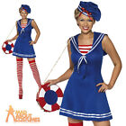 Adult Sexy Sailor Cutie Costume Ladies Nautical Doll Fancy Dress Outfit UK 8-18