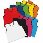 10 FOOTBALL NET BALL RUGBY HOCKEY CRICKET MESH TRAINING SPORTS BIBS Adult Sizes