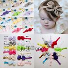 2014 Newborn Baby Girls Soft Chiffon Bowknot Hair Bow Bandeau Headband Hairband