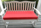 "INDOOR OUTDOOR SWING BENCH CUSHION 45""x17 1/2"" 11 SOLID COLORS"