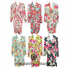 Floral Print Vintage Rayon Cotton Robe Dressing Gown Wedding Bride Bridesmaid