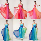 Rainbow Colorful Long Formal Evening Bridesmaid Prom Party Dancing Dresses Gowns
