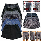 Lot Of 6  Men Knocker Boxer Trunk Plaid Shorts Underwear Lot Cotton Briefs S-3XL