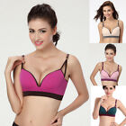 Fashion Women Wire Free Smooth Padded Push Up T-Shirt Bras Underwear A/B/C Cup
