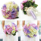Wedding Artificial Flower Bridal Bridesmaid Bouquet ButtonhoIe White Lavender