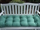 Solid Spa / Aqua Tufted Cushion for Bench ~ Swing ~ Glider - Choose Size