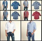 New Hollister by Abercrombie Men PC Highway Oxford Plaid Shirt Muscle Fit Sizes
