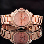 Top Fashion Crystal Style Luxurious Stainless steel watches 3 Color