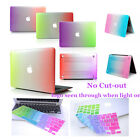 """(2in1) 4Style Rainbow Rubberized Case Cover for Macbook Air 11/13 Pro 13/15""""inch"""