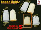 SET OF 5 CHANDELIER CANDLE PLASTIC DRIPS LIGHT PENDANT BULB COVER SLEEVE ANTIQUE