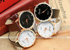 1pc Golden Case Casual Elegant Crystal Quartz Analog Wristband Unisex Watch New