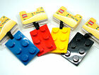 LEGO BRICK LUGGAGE - BAG TAG 4 COLOURS KIDS OR ADULTS HOLIDAY