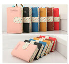 New High Quality Lady Women Long Purse Dotted Clutch Wallet Zip Bag Card Holder