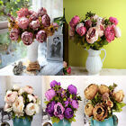 Hot! 1Bouquet 8 Heads Artificial Peony Silk Flower Home Wedding Party Decoration